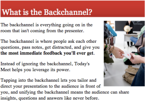 BackChannel